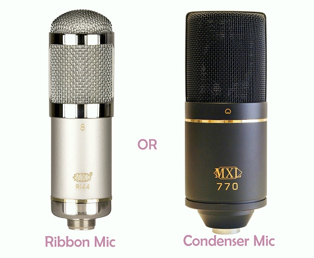 Ribbon microphone vs condenser mic