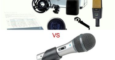 difference between a condenser and a dynamic mic